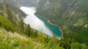 Jezero nad elektrarno